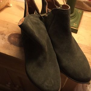 Lucky Brand Forest Green Suede Ankle Boots